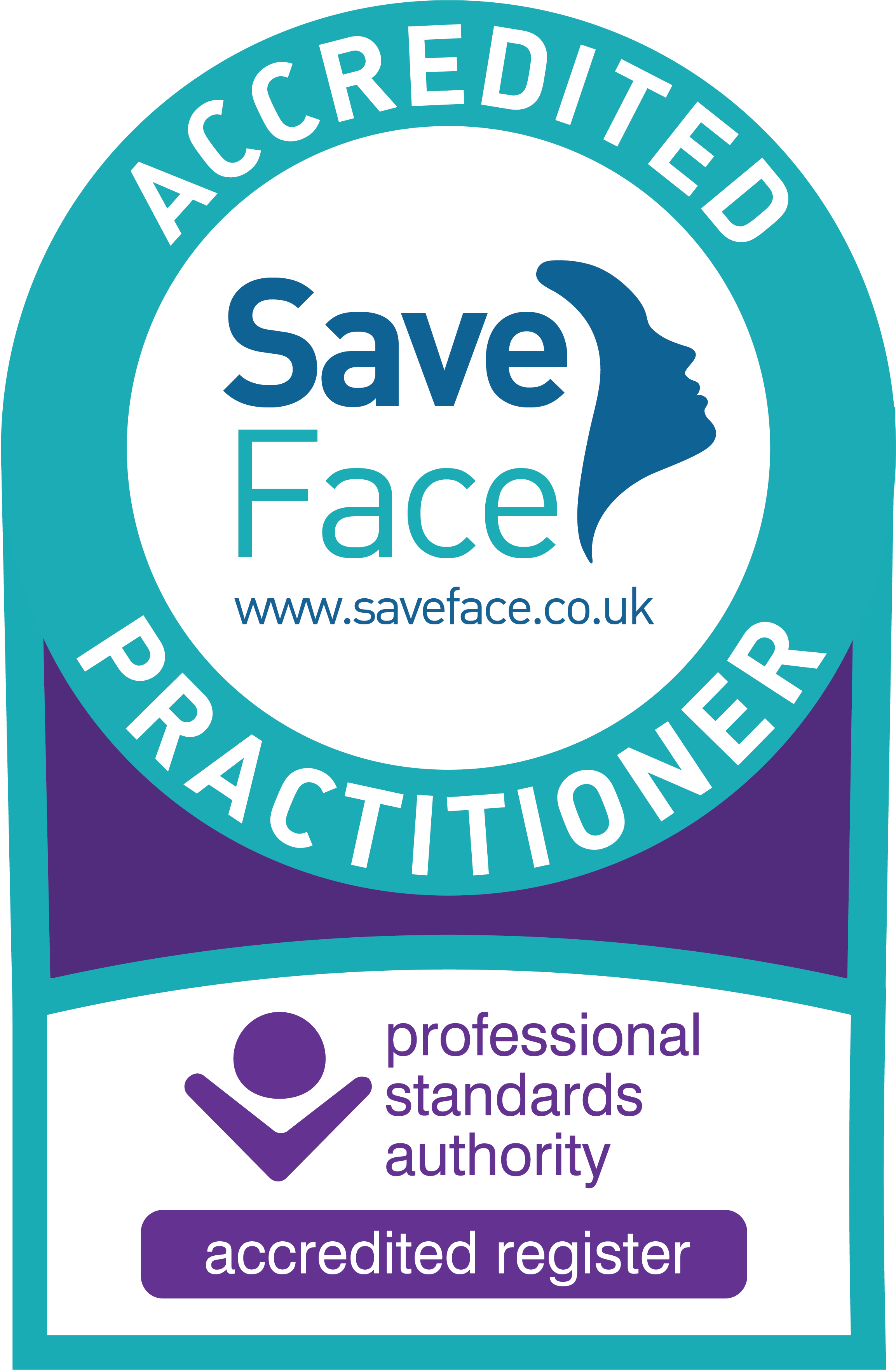Safe face accredited practitioner logo
